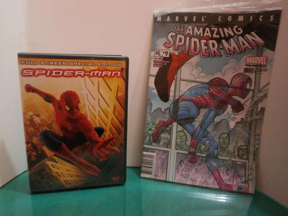 Spiderman DVD Original Edición de dos discos Y Cómic Perú 21
