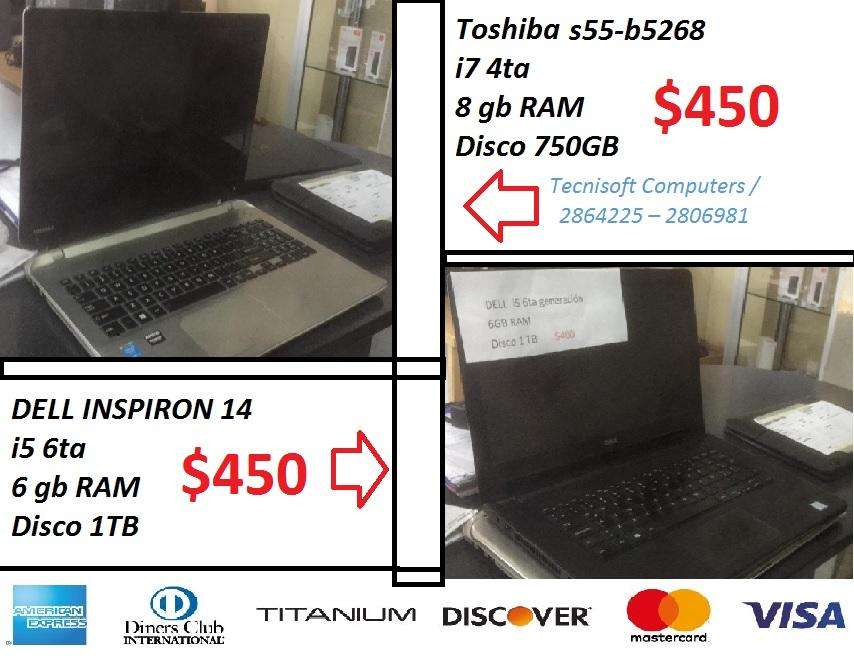 Dell i5 Toshiba i7 usadas