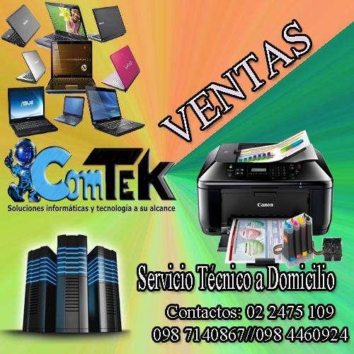 Ventas, Servicio Técnico a domicilio, mantenimiento y reparación para Computadoras e impresoras