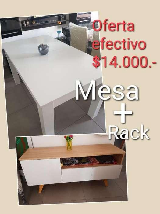 Mesa Extensible Y Rack Oferta