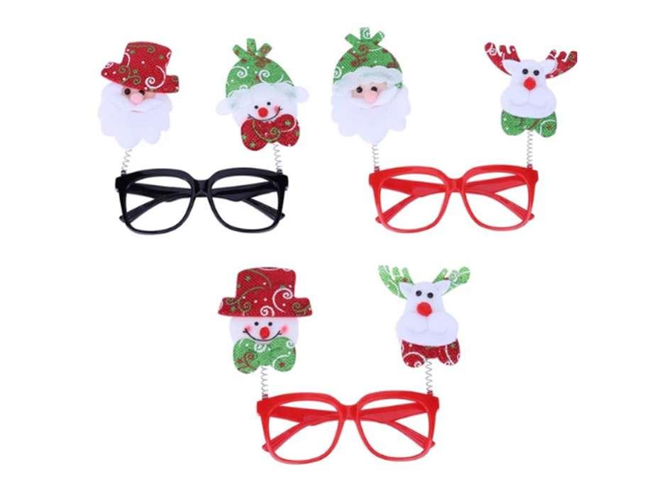 Gafas Accesorios Navidad Celebración x 2 Muñecos