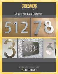 NOMENCLATURAS ,NÚMEROS , AVISOS PARA EDIFICIOS Y APARTAMENTOS, TODO EN ACERO Y OTROS METALES WHATSAPP 3014697966