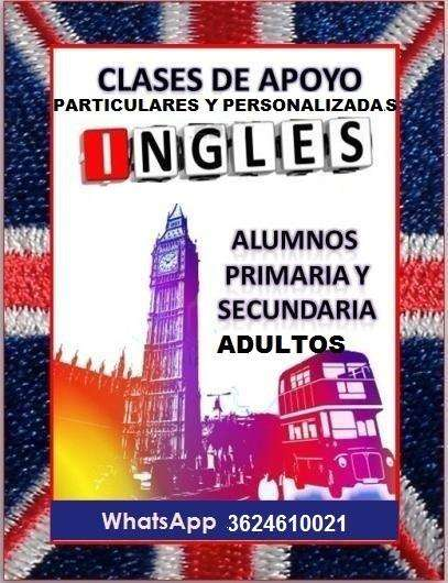 CLASES PARTICULARES DE INGLÉS desde 60 la hora