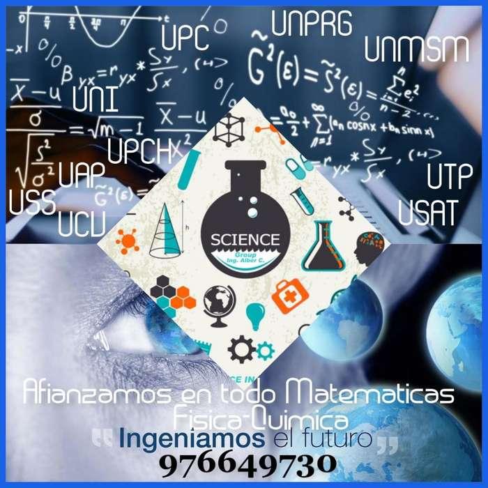 **Afianzamiento Academico, en todo Ciencias Fisica, Quimica y Matematicas**