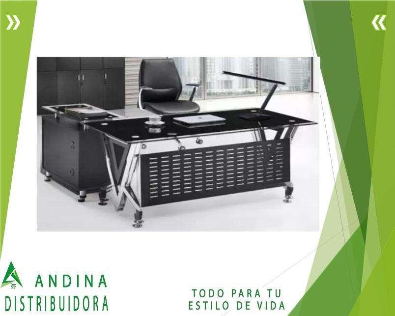 <strong>escritorio</strong> Elegante Negro Para Oficina Incluye Asistencia 6/1