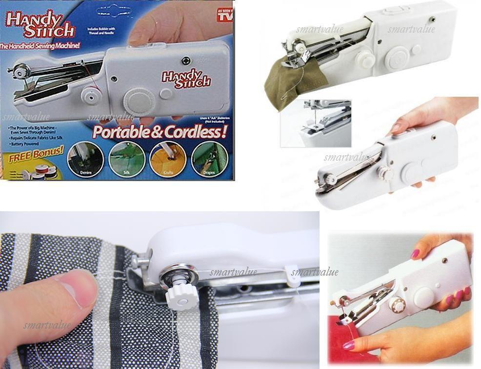 Mini Maquina de Coser de Mano Portatil Viajera Handy Stitch inalámbrica