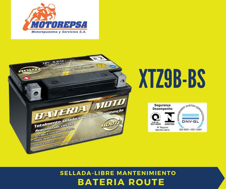 Bateria MOTO ROUTE XTZ9B BS / 12V8Ah