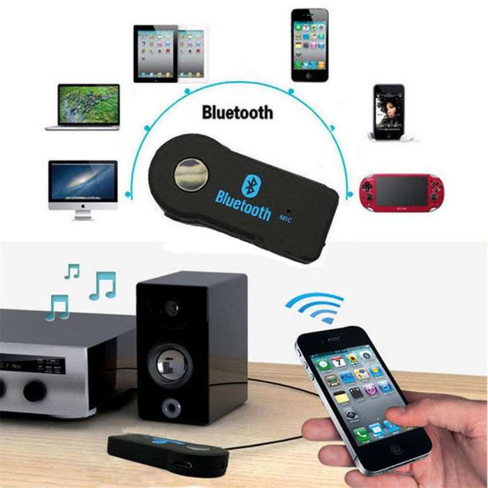 Receptor Aux 3.5mm Audio Bluetooth Estereo Musica Adaptador