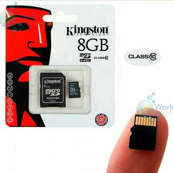 Memoria Microsd Kingston 8gb Clase 10 Uhsi 30mb/seg Original