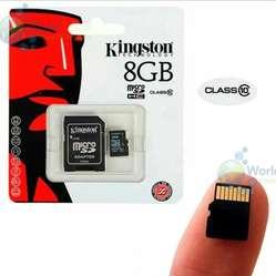 Memoria Microsd Kingston 8gb Clase 10 Uhsi 30mb/seg Original