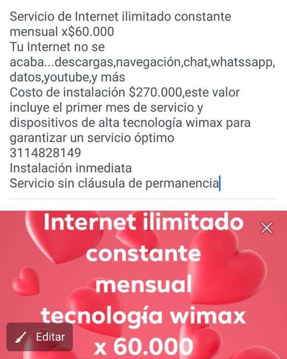 Internet Ilimitado Mensual para Fincas