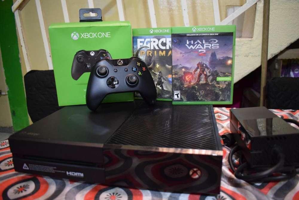 Xbox One 500gb Usado2controles2 Juegos Fisicos 1 Virtual- negociable