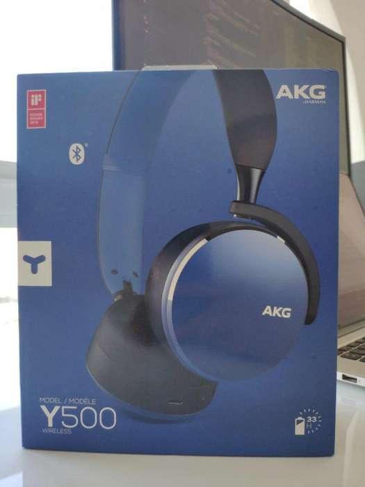 Audífonos Inalámbricos Bluetooth AKG Y500 Azules Nuevos Sellados