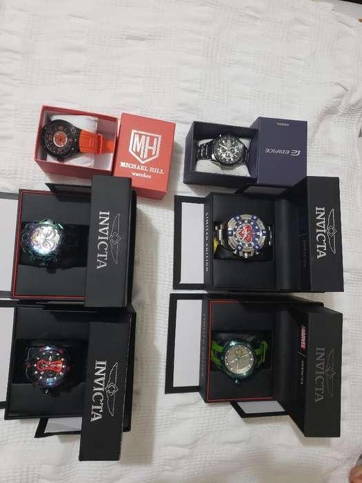 Colección de 4 Reloj Invicta, Casio Y Mi