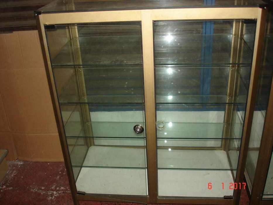 Mostrador Exhibidor de Vidrio Y Aluminio