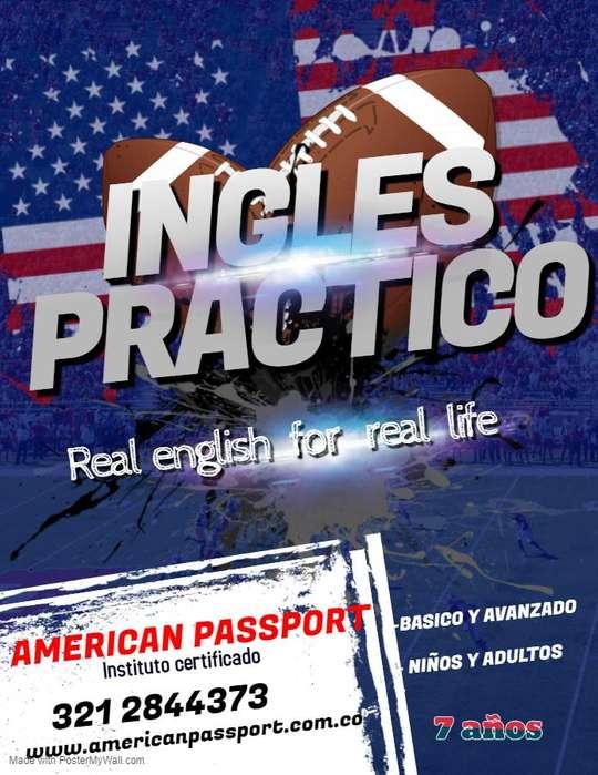 AMERICAN PASSPORT academia de ingles ofrece cursos intensivos niños y adultos. ingles británico y americano