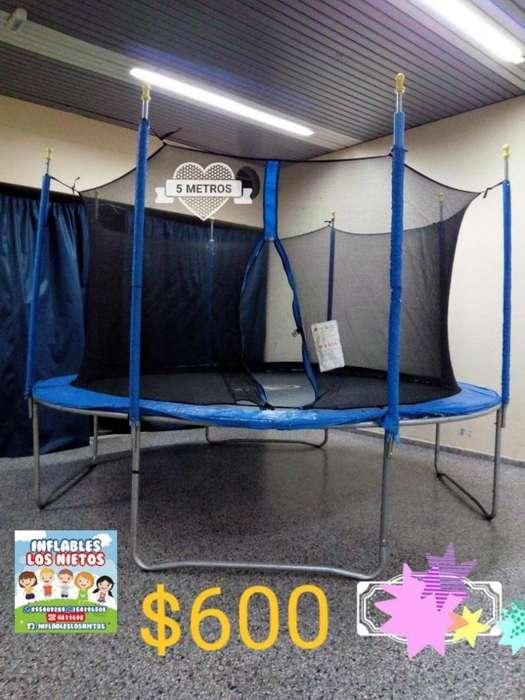 Alquiler cama elástica gigante de 5 mts 600 consultar x Castillos Inflables, Tejo, Mini Tejo, Metegoles Y Plaza Blanda.