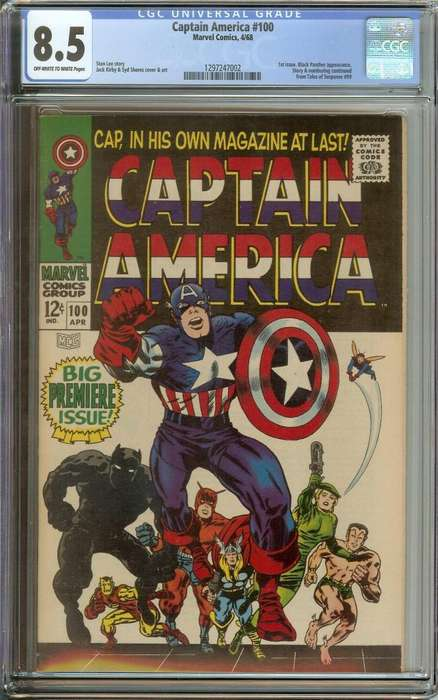 Capitan America Comic #100 (1968)