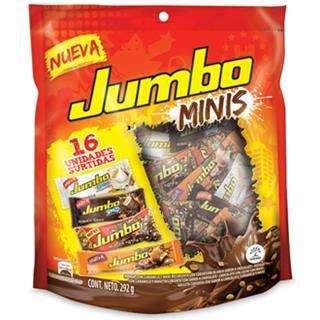 Chocolatinas Jumbo Minis tres ricos sabores