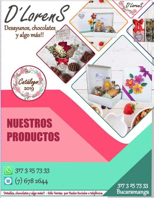 Desayunos Sorpresa -Fresas - Chocolates - Amor y Amistad.