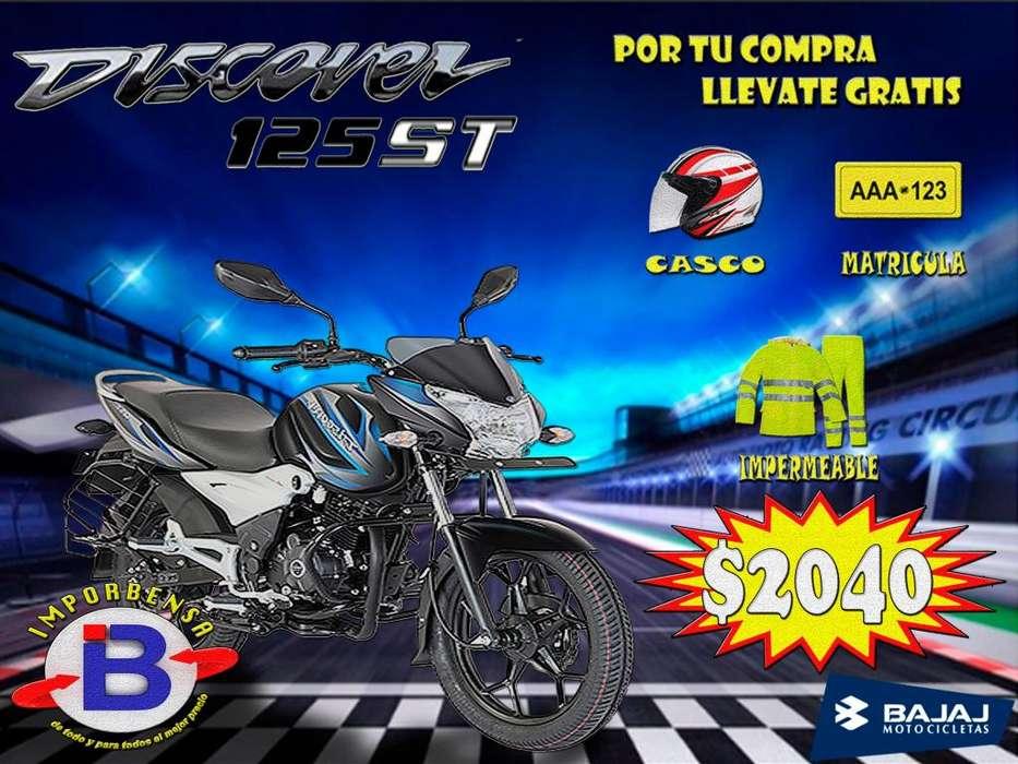 MOTO DISCOVER BAJAJ 125-ST GRATIS <strong>casco</strong>, MATRICULA E IMPERMEABLE