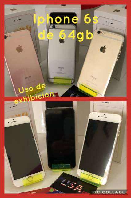 IPHONE 6S DE 64 GB uso de exhibicion americanos factura legal