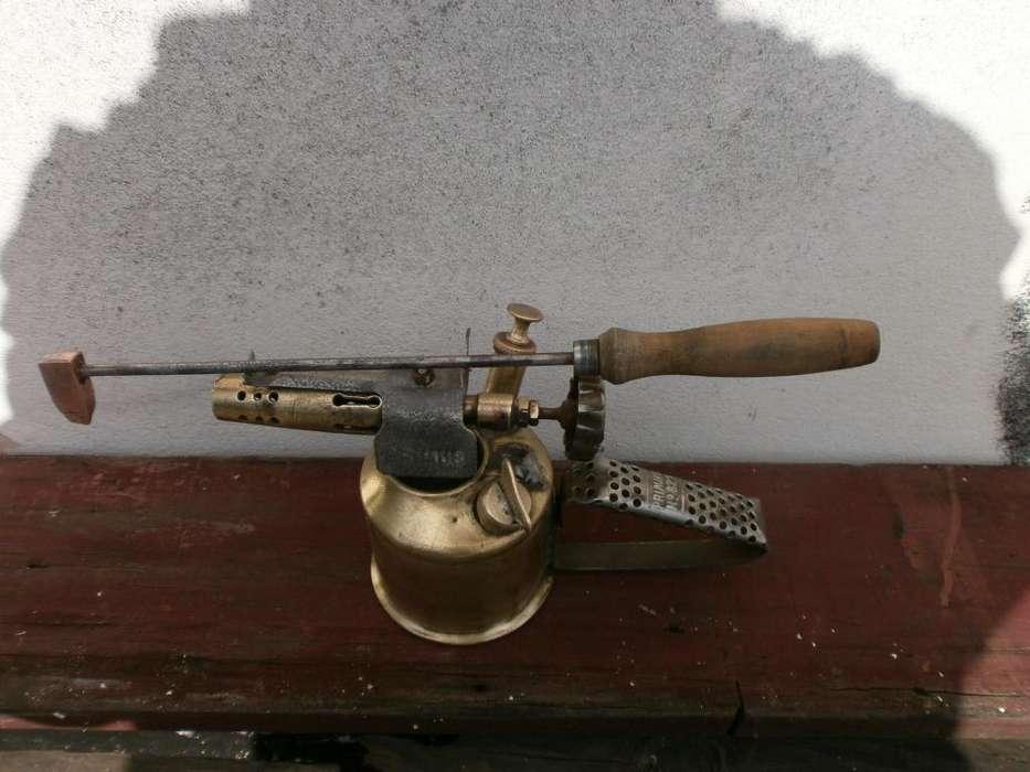 ANTIGUEDAD AÑO 1910 LAMPARA PARA SOLDAR ORIGINAL VER MAS