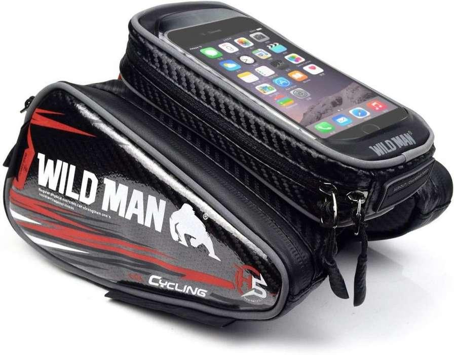 Bolso de bicicleta para celular de 6,3