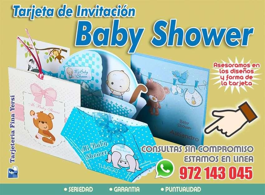 Tarjeta De Invitación De Baby Shower Diseños Exclusivos