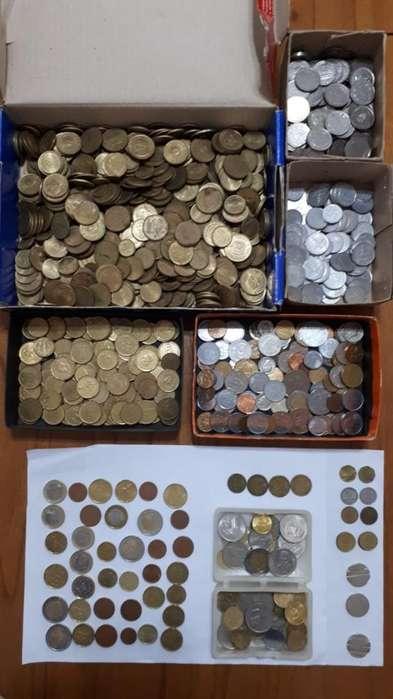 Lote de Monedas Nacionales Y Extrangeras
