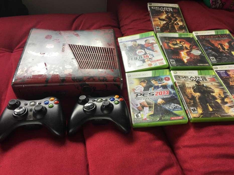 Vendo Xbox 360 GOW3 Edition Juegos 2 Controles Con Kinect