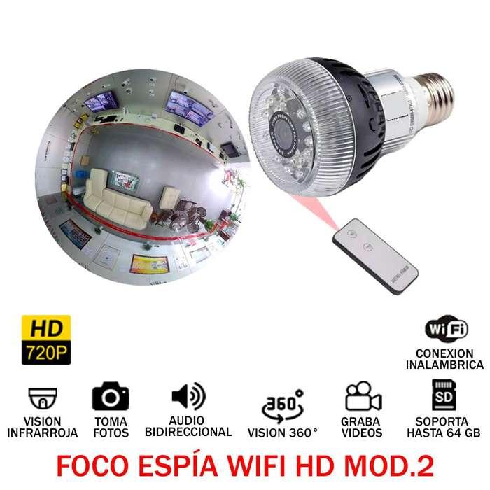 Foco Espia Hd 720p 360 Wifi Audio Video Oculto 64gb