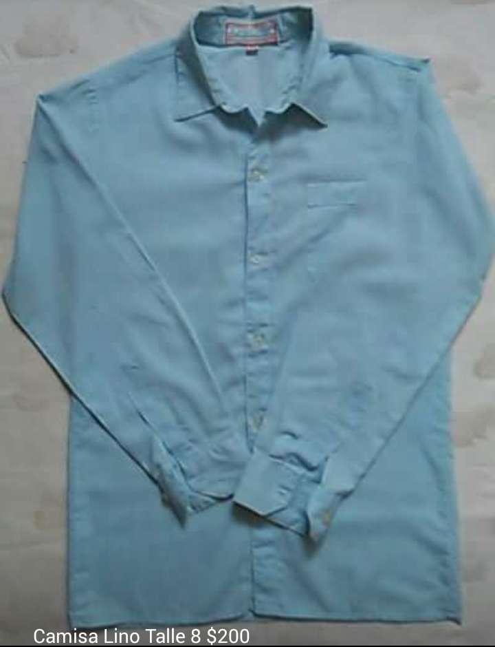 Camisa lino talle 8