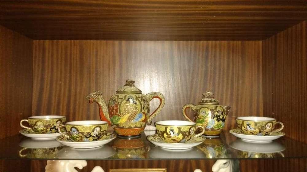Juego de Té de Porcelana China antiguo