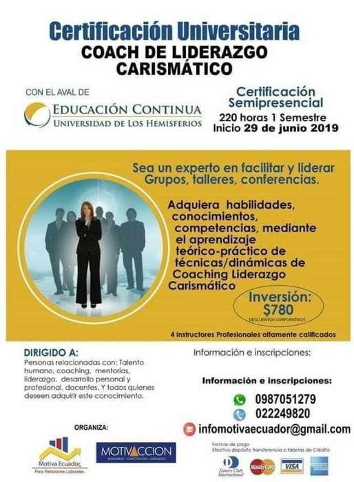 Certificación Coach Liderazgo Carismátic