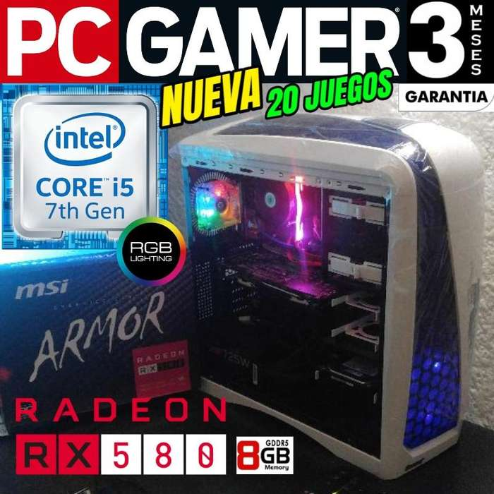 Pc Gamer Core I5 7400 1 Tera Rx 580 8gb Gddr5 20 Juegos 2019