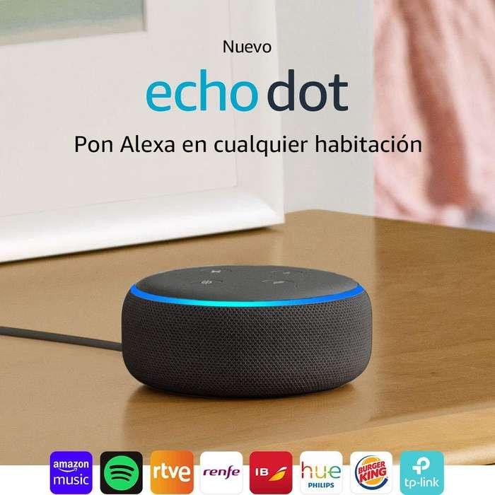 Amazon - Echo Dot - Bocina inteligente con Alexa - Negro