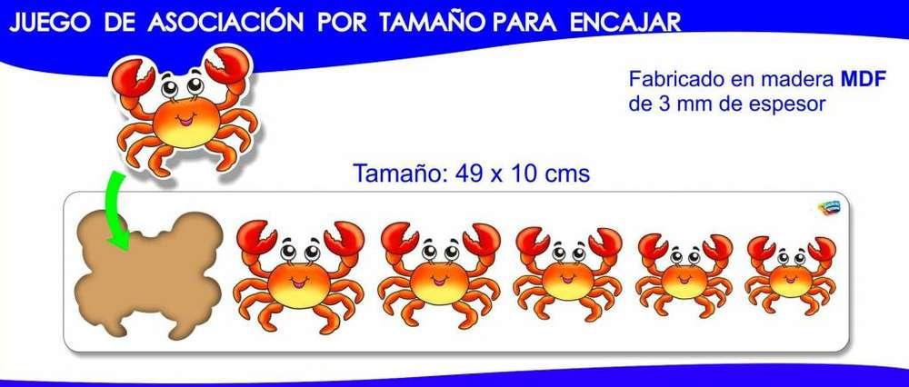 Cangrejos Asociación por Tamaño