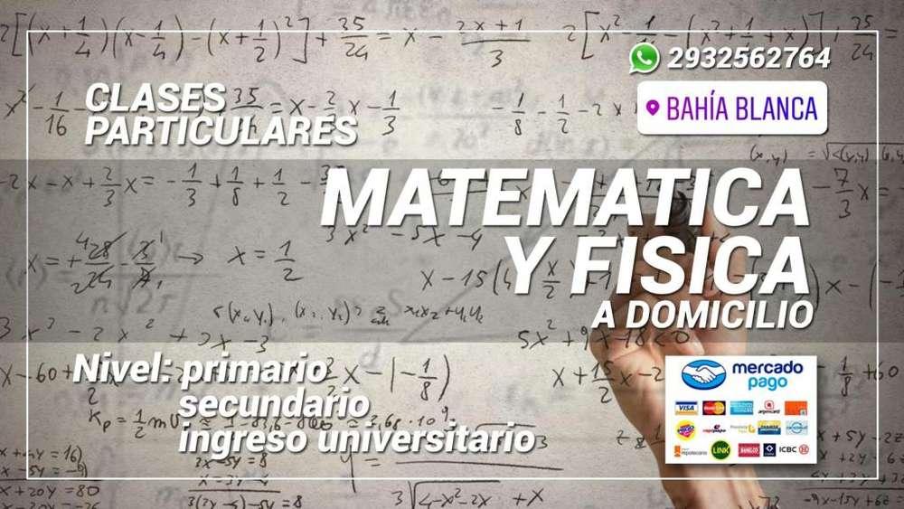 CLASES PARTICULARES A DOMICILIO MATEMATICA Y FISICA