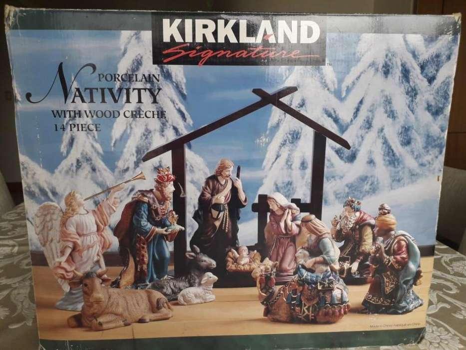 Pesebre Porcelana Nativity Kirkland Pintadas A Mano!!