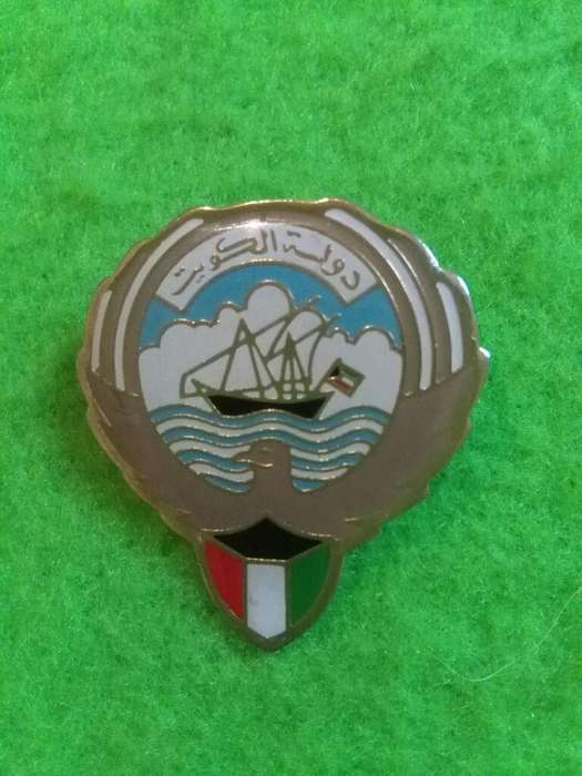 Hermoso y raro Pin Distintivo Escudo de Kuwait