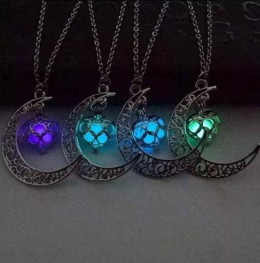 Collar Luz De Luna Brilla En La Oscuridad - Perfecto Regalo