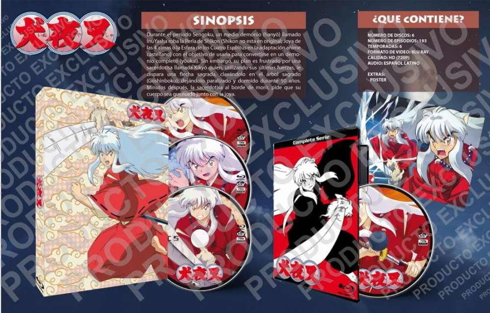 Anime Inuyasha Hd 720p Serie Completa Latino