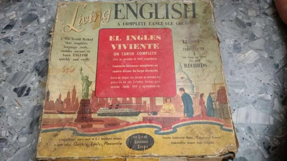 Antiguo Curso De Ingles The Living Languages 4 Lp Libro