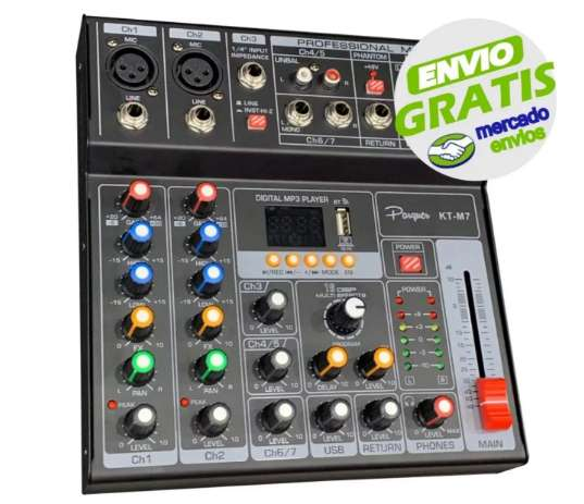 Consola Mixer Potenciada 6 Canales 400w