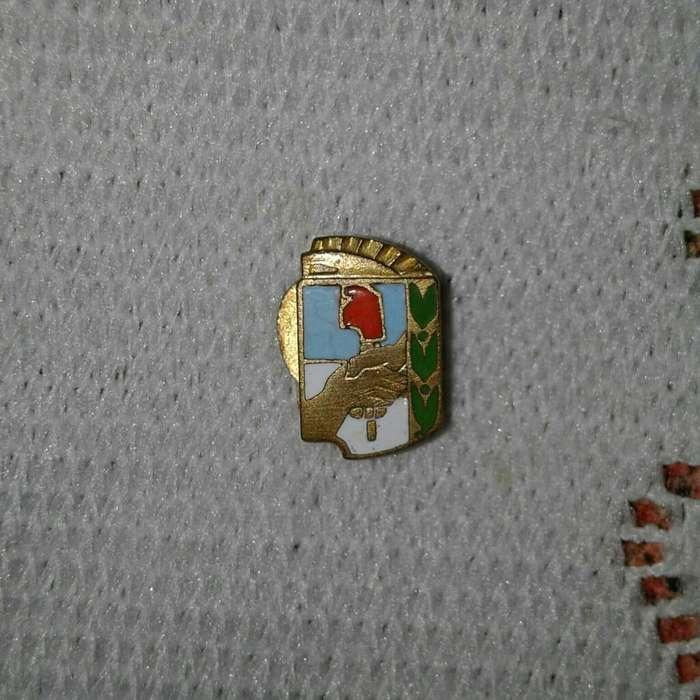 Pin Ojal Evita Y Perón. Escudo Peronista