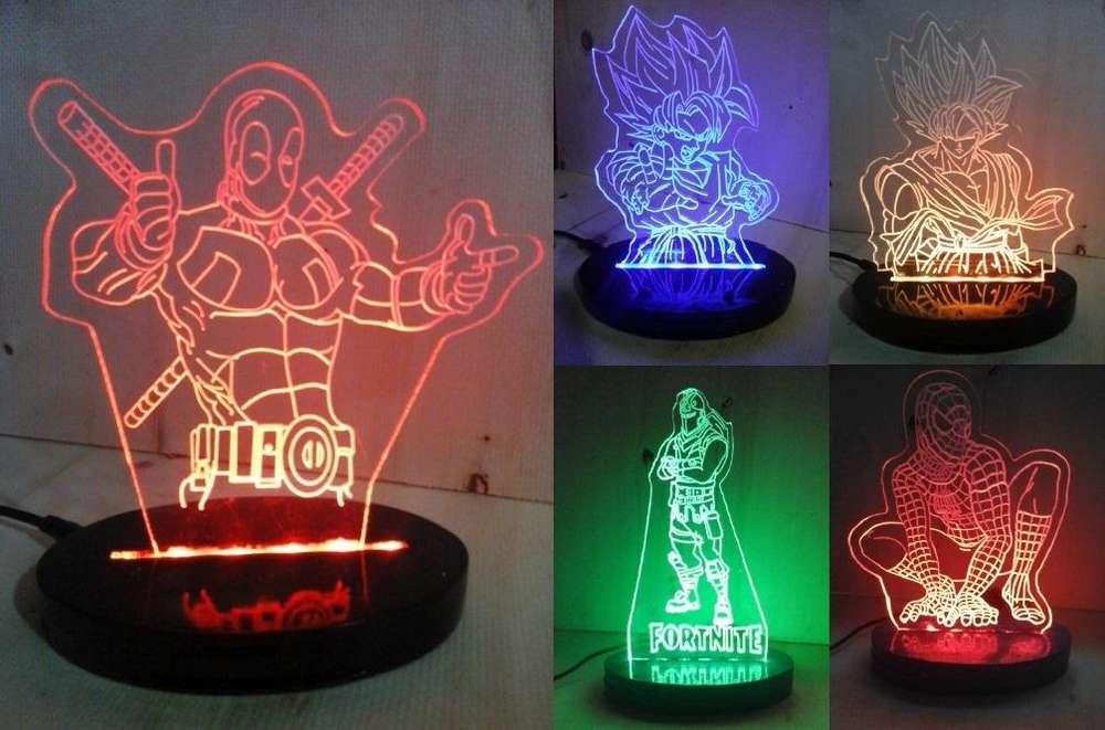 Lámparas LED de Acrílico. Regalos- Decoración- Eventos- Avisos desde 19900