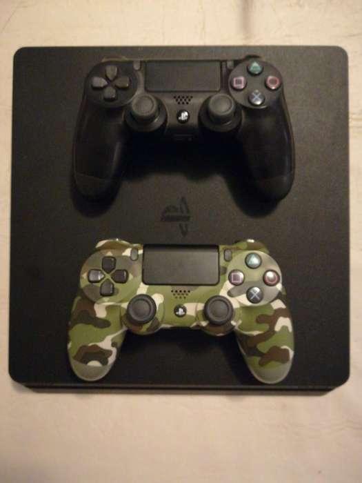 Vendo Play 4 Slim - Excelente - 2 Joystick - Poco Uso
