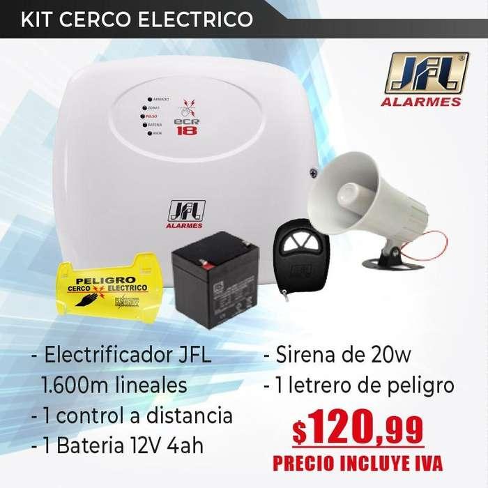 Cerco Electrico JFL-Electrificador jfl-bateria-sirena-letrero de peligro-cerco electrcio hagroy