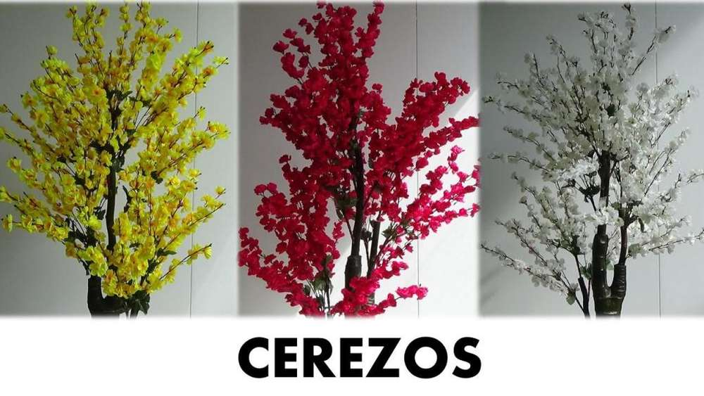 Cerezos Plantas Artificiales Realistas Decorativas
